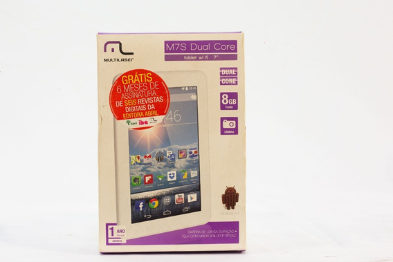 Tablet Multilaser M7s Dual Core 8gb 512mb