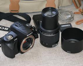 Câmera Profissional - Sony Alpha 230 + Lente C/ Detalhe