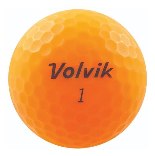 Pelotas Golf Volvik Vivid, 12 Pz. Color Naranja Mate.