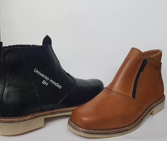 Botina Foot Care Em Couro Legitimo Promocao