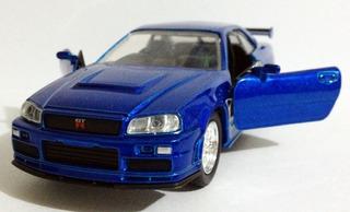 Miniatura Velozes E Furiosos Nissan Skyline Gt-r34