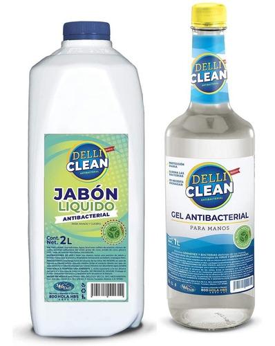 Gel Antibacterial 70% Alcohol Y Jabón Líquido Antibacterial
