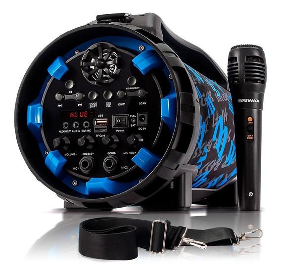 Caixa De Som Bluetooth Canhão 40w Portátil Mp3 Fm Usb Sd Aux