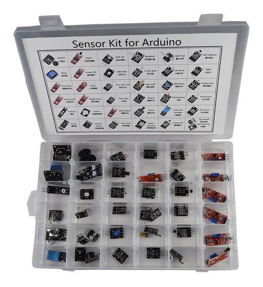 Kit 37 Modulos E Sensores P/ Esp8266 Esp12 Arduino + Caixa