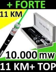 Caneta Laser Pointer Verde 10.000mw + Kit Competo 5 Pontas