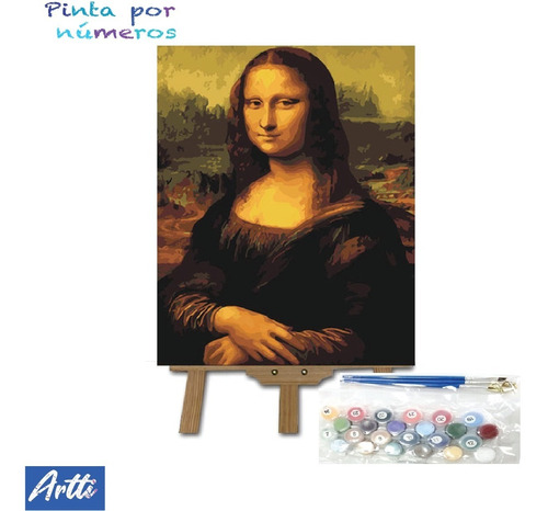 Imagen 1 de 6 de Pinta Por Numeros(paint By Numbers) Lienzo Para Pintar