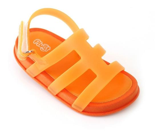 Sandália Plugt Mini Bizz Colors Infantil - Laranja