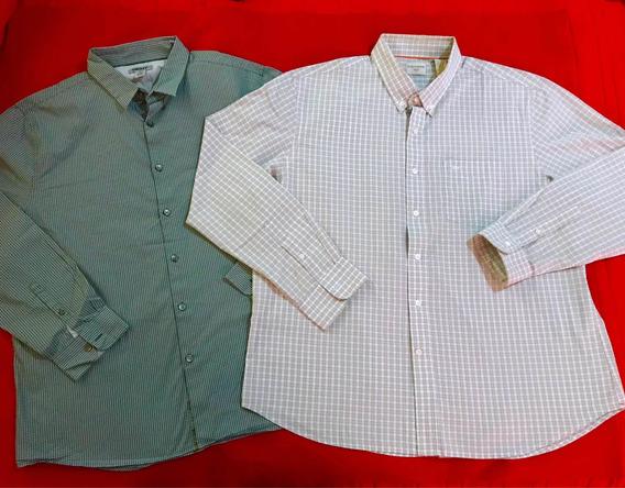 Lote 2 Camisas Dkny Y Dockers Original Talla Xl/guess Calvin