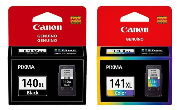 Kit Cartuchos Canon 140 Black 141 Color.