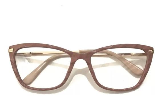 Óculos Armações Por Grau Nude Feminino Estiloso Chic Trend