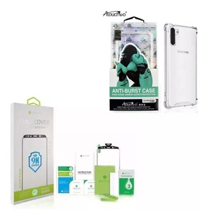 Kit Pelicula Full Cover + Capa Anti Shock Galaxy S10 Plus