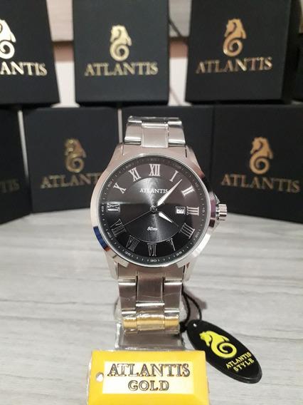 Relogio Original Masculino Atlantis - Modelo G33142 Na Caixa