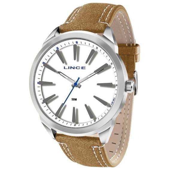 Relógio Lince Masculino Analógico Couro Mrc4384sb1mb