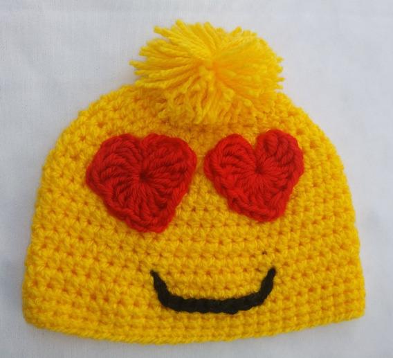 Gorro San Valentin, Newborn Baby Crochet Emoji, Kisses