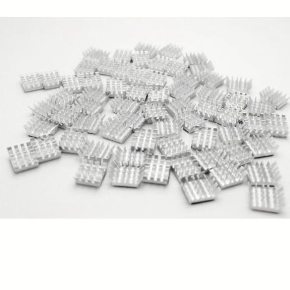 50 Dissipadores Em Alumínio Com Adesivo Térmico 3m Raspberry