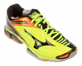 Tênis Mizuno Wave Stealth 3 Verde Limão/preto + Nf
