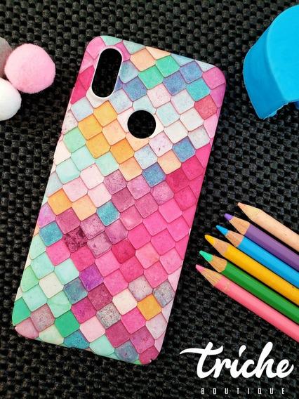 Funda Case Mosaico Colores Sirena Dama Xiaomi Mi A2 Normal
