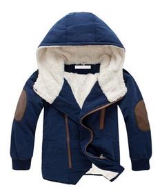 Jaqueta Infantil Frio Capuz Quente Criança Corta Vento