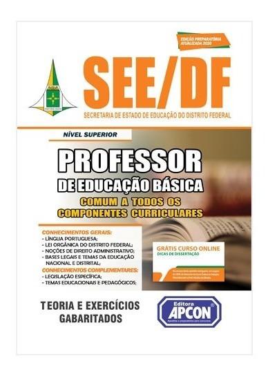 Apostila See Df 2020 - Comum Professor De Educação Básica