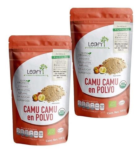 Imagen 1 de 7 de Paquete Dúo Superfood Camu Camu Leafy 100 Gr