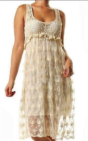 Vestido Importado Con Crochet Guipiur Bordado. Precioso.