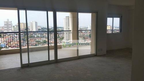 Apartamento Com 3 Dormitórios À Venda No Condomínio Sólon Vila Rosália, 137 M² Por R$ 950.000 - Vila Rosália - Guarulhos/sp - Ap0173
