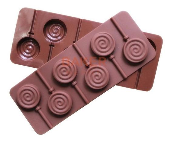 Molde De Silicón Para Paletas De Chocolate Redondas