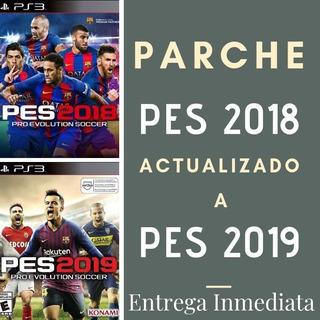 Parche    Pes 2018 Actualizado A Pes 2019 Ps3    Oferta   
