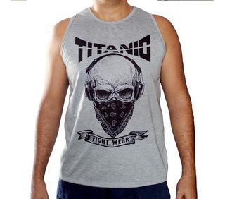 Camiseta Regata Jiu Jitsu, Judo, Muay Thai, Luta - Titanio