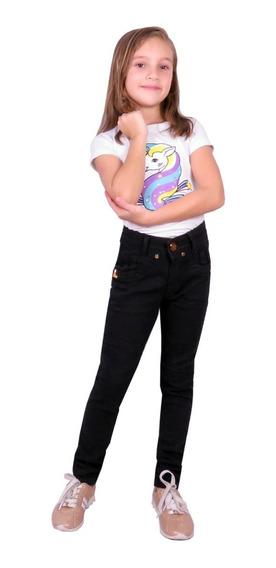 Conjunto Blusa E Calça Jeans Feminino Menina Infantil Kit 2