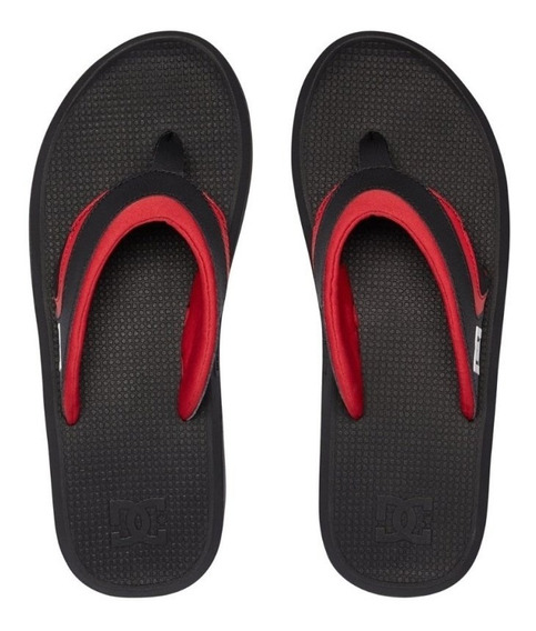 Chinelo Dc Shoes Recoil Black Black Red