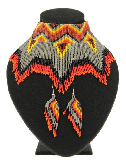 Collar Fleco/gargantilla De Chaquira