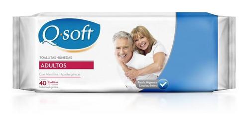 Imagen 1 de 5 de Toallas Húmedas Premium Para Adultos Q-soft (12 Paquetes)