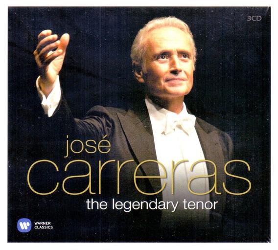 Cd Jose Carreras - The Legendary Tenor ( Box 3 Com Cds )