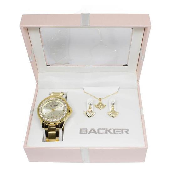 Relogio Backer Kit Semi Joia 33410101 Original Garantia C/nf