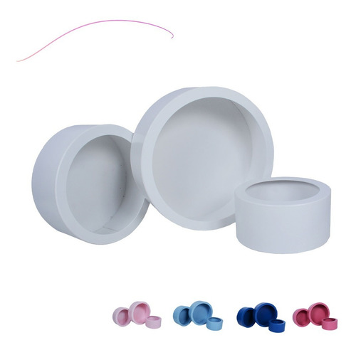 Imagem 1 de 6 de Nichos Redondo Branco Premium Para Decoração Kit Com3