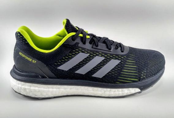 Tênis adidas Response St Boost Masculino Preto/verde