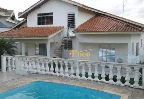 Chácara Com 4 Dormitórios, 1000 M² - Venda Por R$ 1.600.000,00 Ou Aluguel Por R$ 6.500,00/mês - Condomínio Jardim Santa Rosa - Itatiba/sp - Ch0117