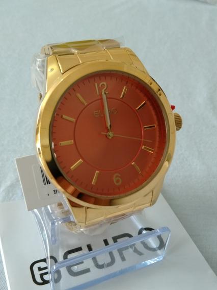 Relogio Dourado Feminino Original Euro Ref-eu2036lzd/4l.