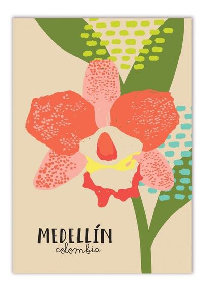 Postal Medellín Orquídea