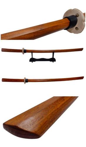 Imagem 1 de 10 de Boken Bokken Tsuba Espada Madeira Kenjutsu Aikido Kendo Trei