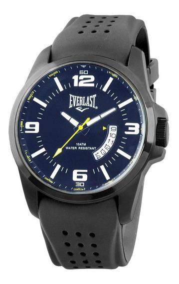 Relógio Pulso Everlast Masculino Silicone Calendário E488