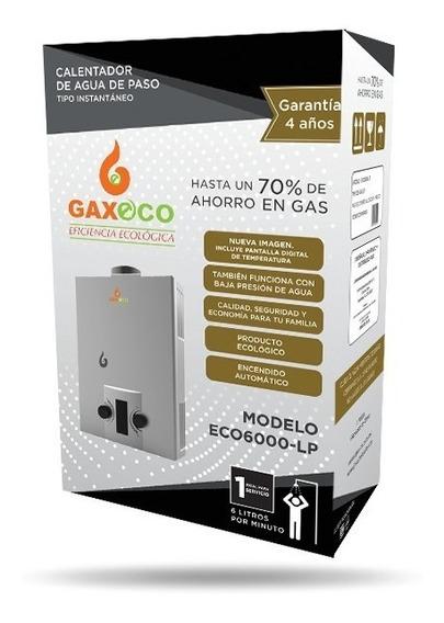 Calentador De Paso Tipo Instantáneo Gaxeco-6000 Lp O Natural