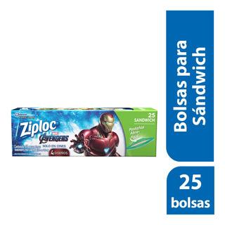 Bolsa Para Sandwich Ziploc Avengers