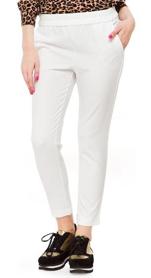Pantalon Boho Blanco Crepé Mujer Yagmour Nuevo Liquido