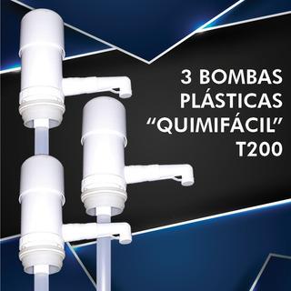 Bombas Quimifácil T200 3 Pz. 125 Ml. Por Bombeada De Push.