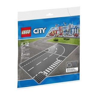 Lego City Base Curva Y Junta En T 7281