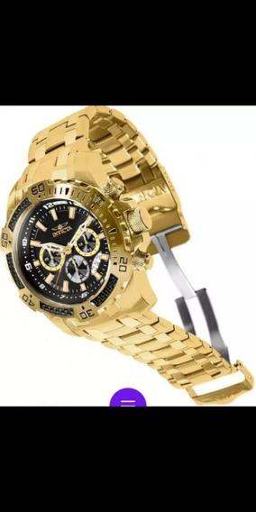 Relógio Invicta Pro Diver Banhado A Ouro 18 K