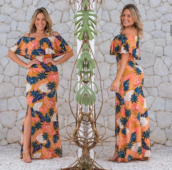 Vestido Feminino Longo Estampas Maravilhosas Casual Oferta