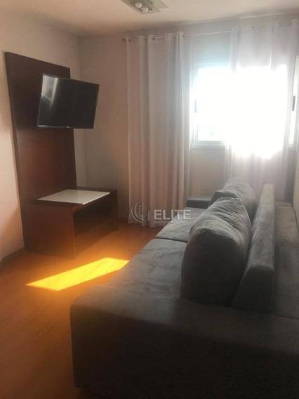 Lindissimo Apartamento No Centro De Santo Andre - Lazer Completo - 1 Vaga De Garagem - Todo Mobiliado - Ap10142